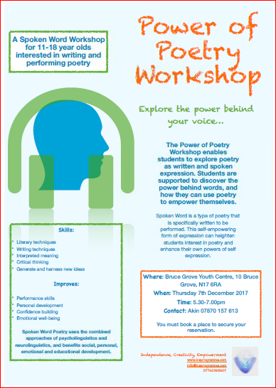 Power of Poetry Workshop