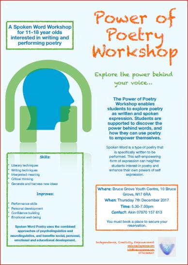 Power of Poetry Workshop